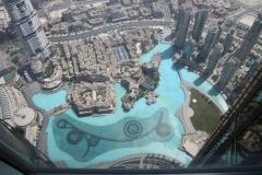 Udsigt Burj Khalifa - springvandet
