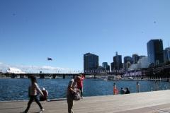 Første møde med Sydney Harbour