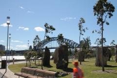 Første møde med Sydney Harbour Bridge